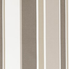 Mocha Stripe Drapery and Upholstery Fabric by Clarke & Clarke