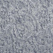Denim Paisley Drapery and Upholstery Fabric by Clarke & Clarke