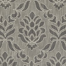 Charcoal Damask Drapery and Upholstery Fabric by Clarke & Clarke