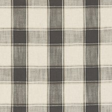 Charcoal Plaid Drapery and Upholstery Fabric by Clarke & Clarke