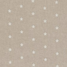 Natural Floral Small Drapery and Upholstery Fabric by Clarke & Clarke