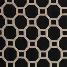 Noir Geometric Drapery and Upholstery Fabric by Clarke & Clarke