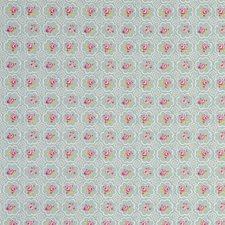Tile Aqua Drapery and Upholstery Fabric by Clarke & Clarke