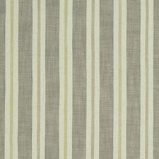 Citron/Natural Stripes Drapery and Upholstery Fabric by Clarke & Clarke
