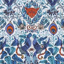 Blue Drapery and Upholstery Fabric by Clarke & Clarke