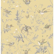 Gld/Sft Grey Animal Drapery and Upholstery Fabric by Cole & Son