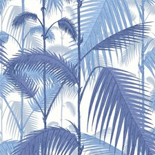 Hyaci On Wht Botanical Drapery and Upholstery Fabric by Cole & Son
