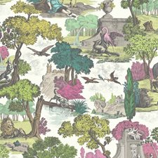 Brt Class Multi Animal Drapery and Upholstery Fabric by Cole & Son