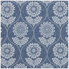 Denim Damask Drapery and Upholstery Fabric by Clarke & Clarke