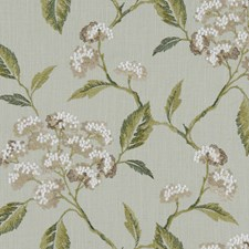 Duckegg Embroidery Drapery and Upholstery Fabric by Clarke & Clarke