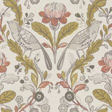Birds Ochre Drapery and Upholstery Fabric by Clarke & Clarke