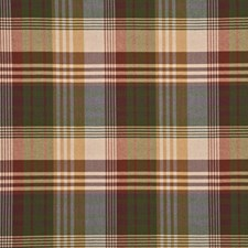Mulberry Check Drapery and Upholstery Fabric by Mulberry Home