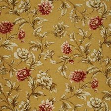 Sand/Red Drapery and Upholstery Fabric by Mulberry Home
