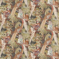 Charcoal Animal Drapery and Upholstery Fabric by Mulberry Home