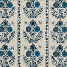 Indigo Modern Drapery and Upholstery Fabric by Mulberry Home