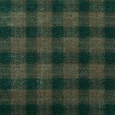 Teal Check Drapery and Upholstery Fabric by Mulberry Home