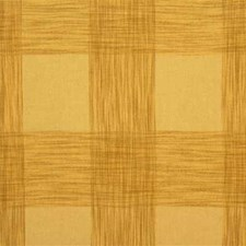 Soft Gold Check Drapery and Upholstery Fabric by Mulberry Home