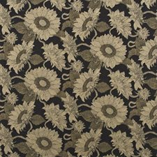 Burnt Umber Botanical Drapery and Upholstery Fabric by Mulberry Home