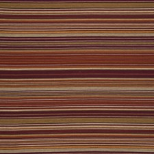Red/Ginger/Plum Stripes Drapery and Upholstery Fabric by Mulberry Home