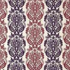 Damson/Claret Silk Drapery and Upholstery Fabric by Mulberry Home