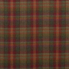 Red/Lovat/Heather Plaid Drapery and Upholstery Fabric by Mulberry Home
