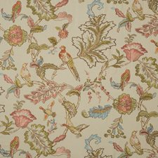 Natural Embroidery Drapery and Upholstery Fabric by Mulberry Home
