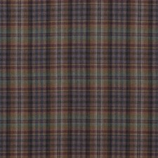 Teal/Sienna/Mauve Check Drapery and Upholstery Fabric by Mulberry Home