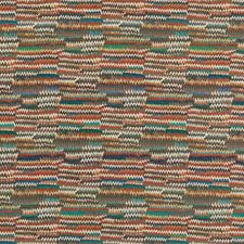 Teal/Spice Abstract Drapery and Upholstery Fabric by Mulberry Home