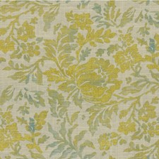 Light Blue/Gold Botanical Drapery and Upholstery Fabric by Kravet