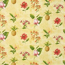 Yellow/Pink/Green Tropical Drapery and Upholstery Fabric by Kravet