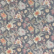 Grey/Silver/Orange Traditional Drapery and Upholstery Fabric by JF