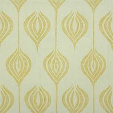 White/Yellow Modern Drapery and Upholstery Fabric by Groundworks
