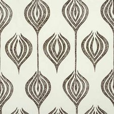 White/Chocolate Modern Drapery and Upholstery Fabric by Groundworks