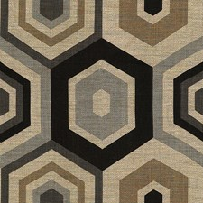 Grey Geometric Drapery and Upholstery Fabric by Groundworks