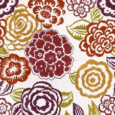 Purple/Berry Embroidery Drapery and Upholstery Fabric by Groundworks