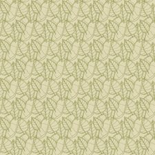 Lime Botanical Drapery and Upholstery Fabric by Groundworks