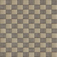 Taupe Check Drapery and Upholstery Fabric by Groundworks
