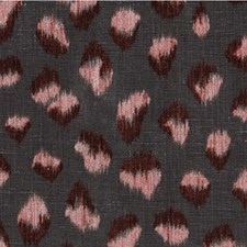 Graphite/Rose Animal Skins Drapery and Upholstery Fabric by Groundworks