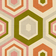 Shell Geometric Drapery and Upholstery Fabric by Groundworks