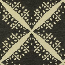Black Geometric Drapery and Upholstery Fabric by Groundworks