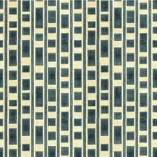 Blue Contemporary Drapery and Upholstery Fabric by Groundworks