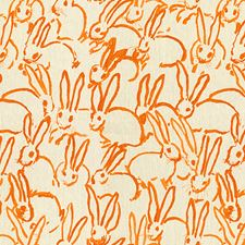 Orange Animal Drapery and Upholstery Fabric by Groundworks