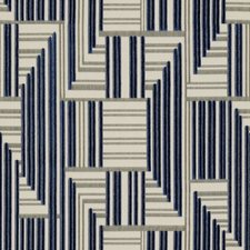 Navy/Grey Modern Drapery and Upholstery Fabric by Groundworks