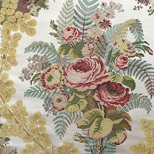 Rose/Blue/Gold Drapery and Upholstery Fabric by Scalamandre