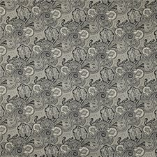 White/Black Paisley Drapery and Upholstery Fabric by Kravet