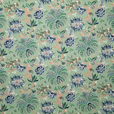 Jade Print Drapery and Upholstery Fabric by Pindler