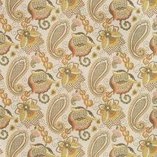 Ivory/Yellow/Khaki Botanical Drapery and Upholstery Fabric by Kravet