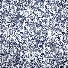 Indigo Crewel Drapery and Upholstery Fabric by Pindler
