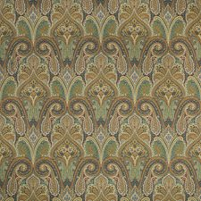 Green/Camel/Rust Paisley Drapery and Upholstery Fabric by Kravet