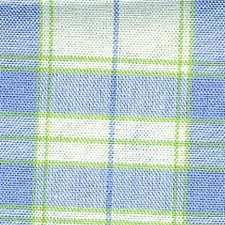 Sapphire Plaid Drapery and Upholstery Fabric by Laura Ashley